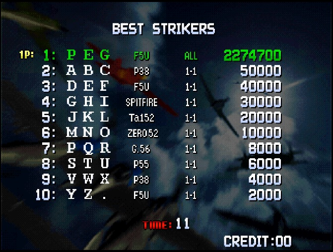 shmups system11 org • View topic - The STG Hall of Records